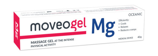 Massage gel for intensified physical activity