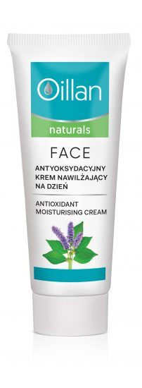 Antioxidant moisturising cream for the face