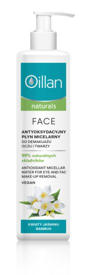 Antioxidant micellar water for eye and face make-up removal